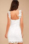 Sexy White Dress Lace Dress Lace Bodycon Dress Lwd