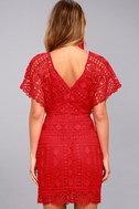 First Kiss Red Lace Dress 3