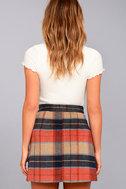 Mad for Plaid Beige Plaid Mini Skirt 4