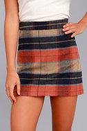 Mad for Plaid Beige Plaid Mini Skirt 3