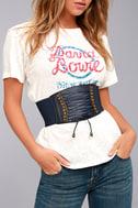 Hold Me Forever Navy Blue Lace-Up Waist Belt 1