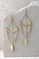 Royal Rays Gold Earrings 1