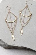 Royal Rays Gold Earrings 2