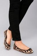 LFL Tinker Leopard Velvet Ballet Flats 5
