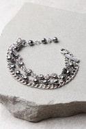 Florence Silver Beaded Bracelet 1
