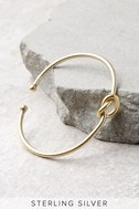 With a Twist Gold Knot Bracelet 1