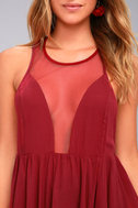 Free People Black Marble Berry Red Tank Top 5