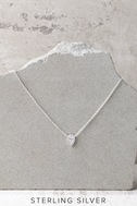 Angel Darling Sterling Silver Rhinestone Choker Necklace 3