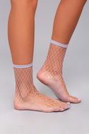 Free People Sugar Sugar Lavender Fishnet Socks 1