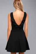 Craving You Black Sleeveless Skater Dress 3