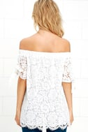 Ethereal View Ivory Lace Off-the-Shoulder Top 8