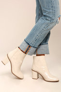BC Footwear Ringmaster Nude Patent Ankle Booties 4