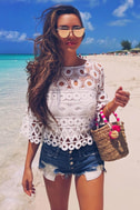 Nearness of You White Crochet Crop Top 5