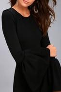 Double Flair Black Long Sleeve Bodycon Dress 5