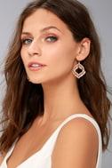 Botanical Babe Rose Gold Earrings 1