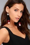New Friends Colony No. 3 Black Tassel Earrings 2