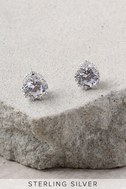 Just You and I Sterling Silver Rhinestone Earrings 2