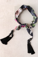 New Friends Colony Dark Blooms Navy Blue Print Choker Necklace 3