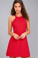 Mamacita Red Halter Skater Dress 1