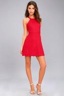 Mamacita Red Halter Skater Dress 2