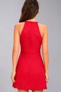 Mamacita Red Halter Skater Dress 3