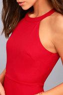 Mamacita Red Halter Skater Dress 4