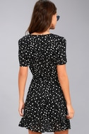 Made of Stardust Black Print Wrap Dress 3
