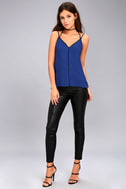 All Day Long Black and Royal Blue Top 1