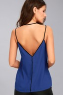 All Day Long Black and Royal Blue Top 3