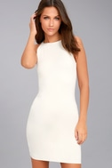 I Bet White Bodycon Dress 3