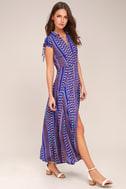 I'm Worth It Royal Blue Print Midi Dress 2