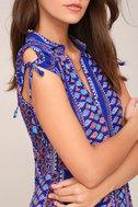 I'm Worth It Royal Blue Print Midi Dress 4
