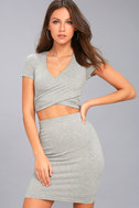 By Your Side Heather Grey Two-Piece Dress 1