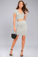 By Your Side Heather Grey Two-Piece Dress 2