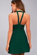 All My Daydreams Forest Green Lace Skater Dress 4