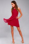 Letter of Love Red Backless Skater Dress 5