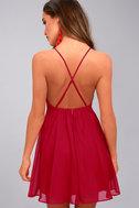 Letter of Love Red Backless Skater Dress 7