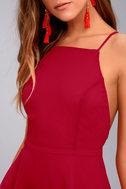 Letter of Love Red Backless Skater Dress 8