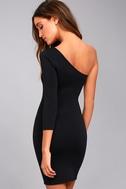 Hello Lover Black One-Shoulder Bodycon Dress 4