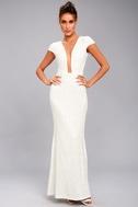 Dress the Population Michelle White Sequin Maxi Dress 2