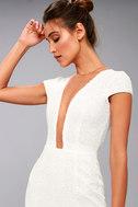 Dress the Population Michelle White Sequin Maxi Dress 5