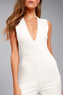 Thinking Out Loud White Backless Jumpsuit 11