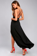 Favorite Crush Black Embroidered Maxi Dress 5