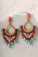 First Sunrise Multi Color Beaded Earrings 1
