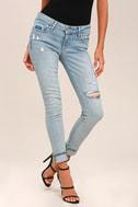 Levi's 711 Skinny Light Wash Distressed Jeans 2