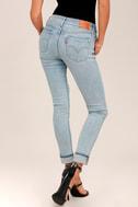 Levi's 711 Skinny Light Wash Distressed Jeans 3