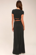 Back in Brooklyn Washed Black Two-Piece Maxi Dress 4