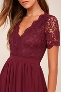 Angel in Disguise Burgundy Lace Skater Dress 4