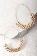 Mind's Eye Gold Threader Earrings 2