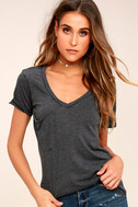 Z Supply Pleasant Surprise Washed Black Tee 8